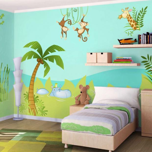 Ściana w pokoju dziecka. Wybierz piękne i niedrogie dekoracje