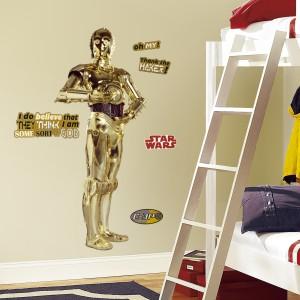 Naklejka w naturalnym ludzkim rozmiarze przedstawiająca super robota to propozycja do pokoju chłopca, zarówno w wieku przedszkolnym jak i nastoletnim. Fot. Becky and Lolo.