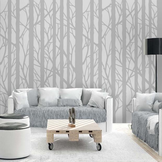 Ściany w salonie. Naturalne inspiracje