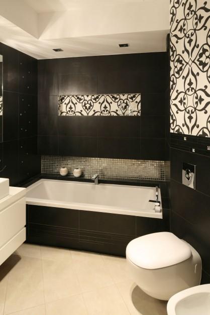 Podwieszana muszla wc oraz...  Nowoczesna łazienka. Zobacz jak urządzić ją w czerni  Strona: 4