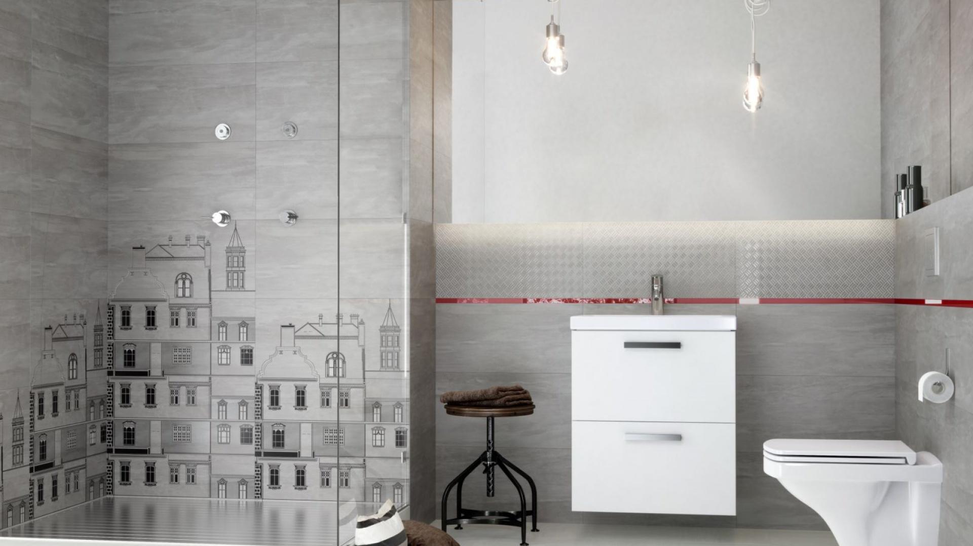 Modna łazienka Wybierz Szare Płytki