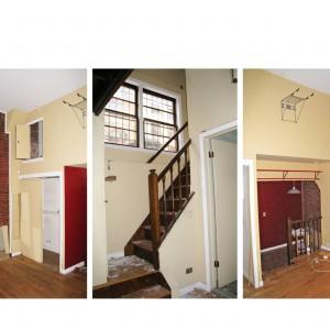 Tak wyglądało mieszkanie przed renowacją. Zamiast nowoczesnego, funkcjonalnego wnętrza była tutaj ciasna i bardzo nieproporcjonalna przestrzeń.