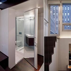 Jak przyznają sami architekci, w mieszkaniu całkowicie pożegnano tradycyjne pojmowanie przestrzeni. Jedynym miejscem, w którym zamontowano drzwi jest łazienka. Projekt: Specht Harpman. Fot. Zdjęcia: Taggart Sorenson.