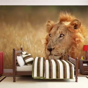 Fototapeta z lwem marki Minka to znakomity sposób by ozdobić pokój dziecka. Taką dekoracją można podkreślić mocny charakter młodego gospodarza. Fot. Minka.