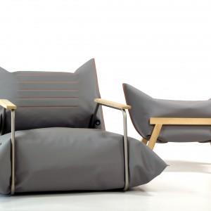 Marka zaprezentowała udoskonaloną wersję swojego sztandarowego produktu - mebli dmuchanych. W skład kolekcji wchodzą fotele i stołki: Vertical, Zip oraz Back. Fot. Malafor.