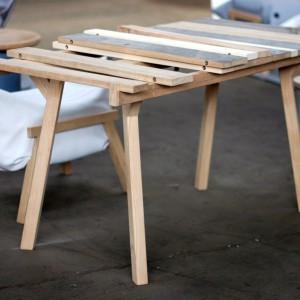 Honsenowski stół, najnowsza odsłona dmuchanych mebli Air oraz stołek, udający słoik - to najnowsze produkty od marki Malafor. Fot. Malafor.