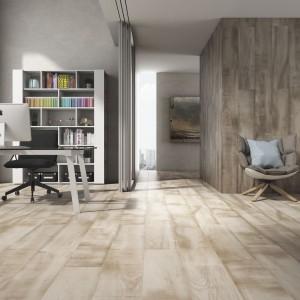 Płytki jak deski z kolekcji Grenier marki Pamesa Ceramica idealnie imitują drewniane deski podłogowe. Fot. Grenier.