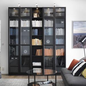 Przeszklone regały z oferty marki IKEA idealne do przechowywania. Fot. IKEA.