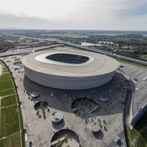 Stadion Wrocław znajduje się w zachodniej części miasta. Łącznie zajmuje powierzchnię 11 hektarów. Fot. Stadion Wrocław.