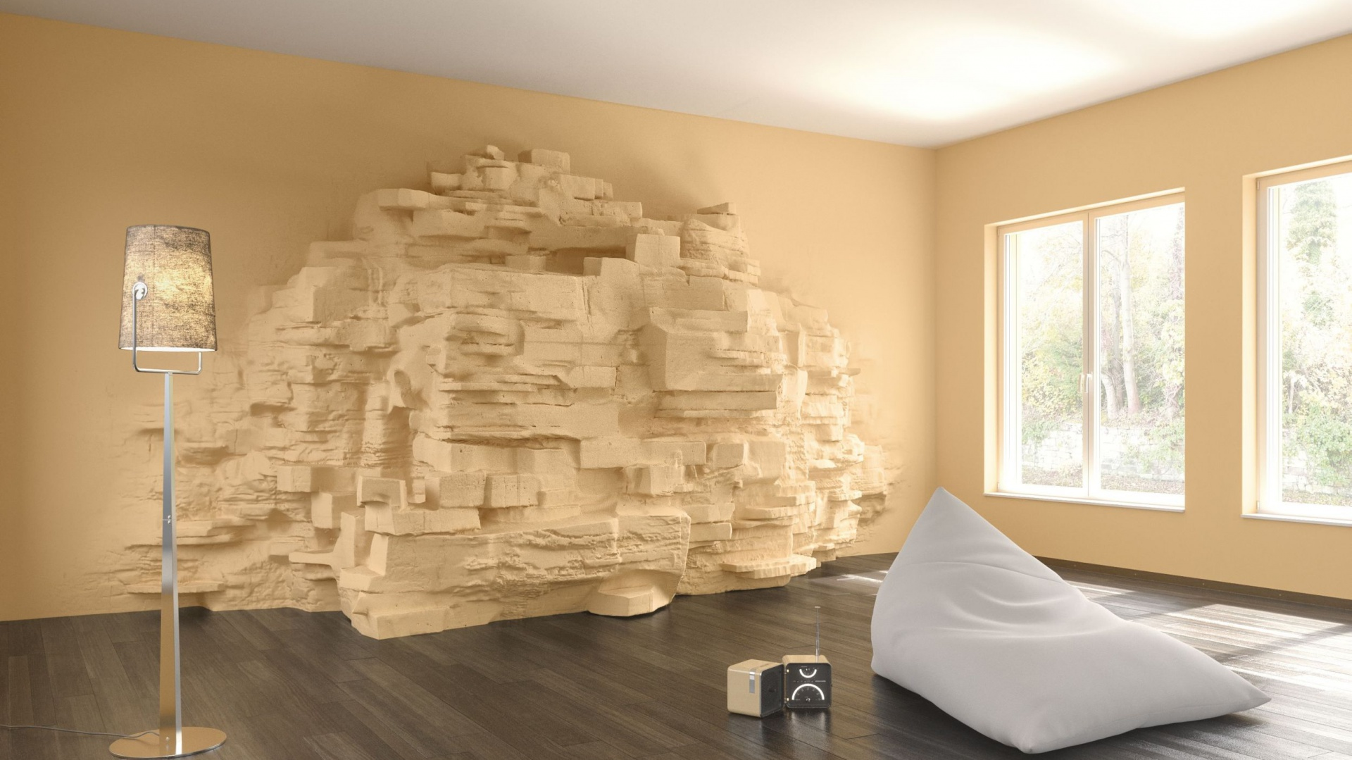 Mineralne masy szpachlowe na bazie wapna ozdobią naszą ścianę w stylu klasycznym, śródziemnomorskim lub nowoczesnym. Używając jednego produktu, można tworzyć nieograniczone rodzaje powierzchni.  Dzięki bogatej ofercie barw i kreatywnej technice wnętrze nabierze wyrazistego charakteru. Fot. Sto