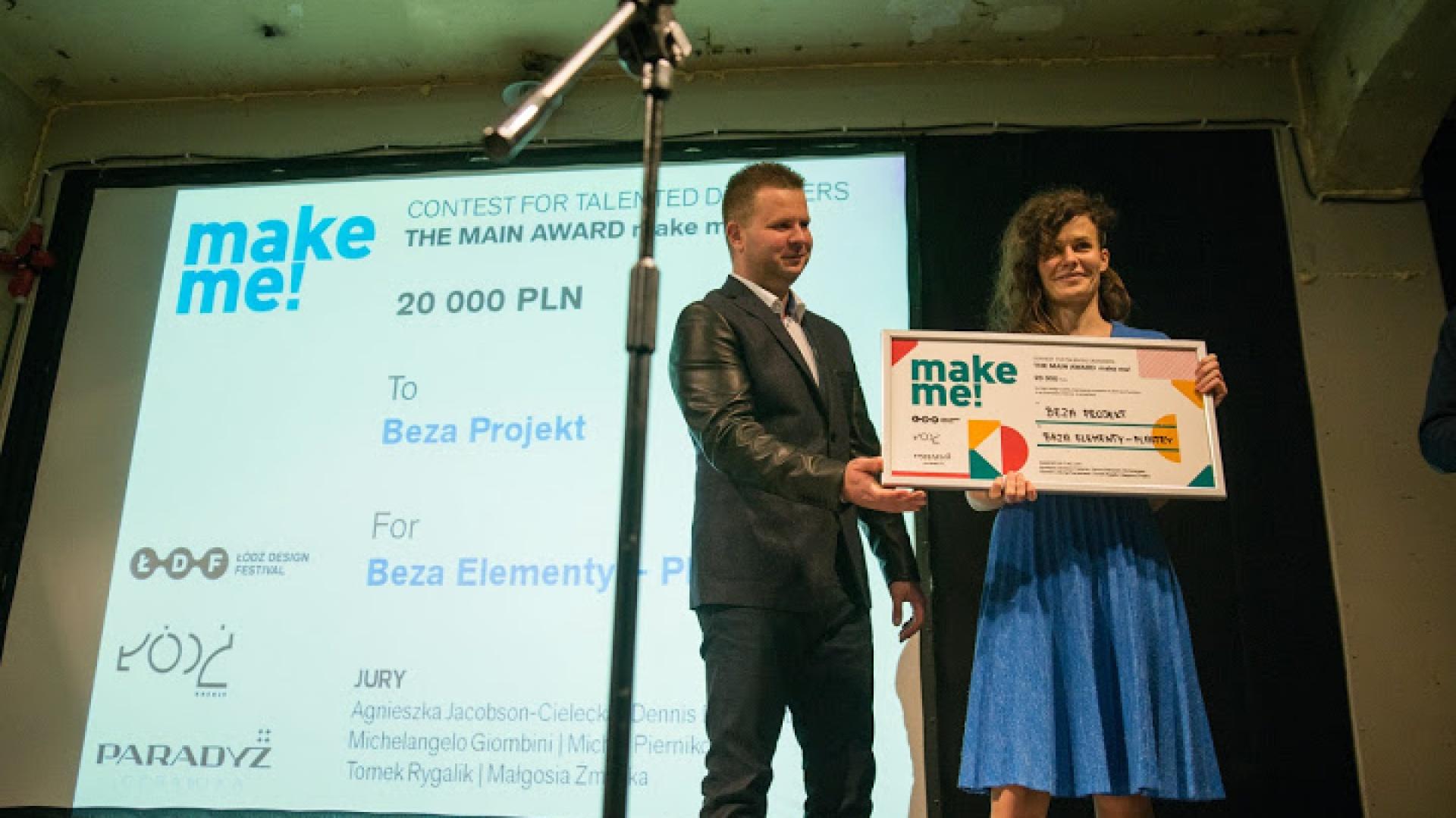 Beza Projekt - zwyciężczyni konkursu make me! w 2013 roku. Fot. Łódź Design Festival