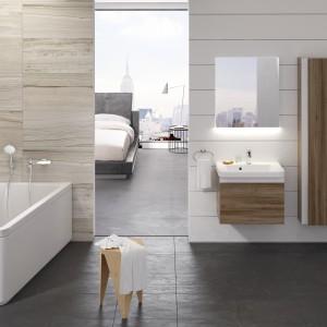 Koncept 10º zaprojektowany przez Kryštofa Nosála prezentuje nowe spojrzenie na przestrzeń łazienki. Seria łazienkowa jest oparta na prostej zasadzie obrócenia lub nachylenia produktów o 10 stopni. W kolekcji znajdziemy asymetryczną wannę, umywalki z konglomeratu. Fot. Ravak.