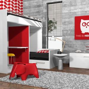 Niektóre model łóżek piętrowych oprócz dwóch miejsc do spania mają też blat, co pozwala jednocześnie zaaranżować również przestrzeń do odrabiania lekcji. Fot. Qora Shai.