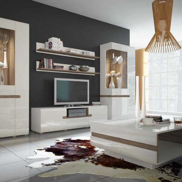 Białe meble do salonu. 15 najpiękniejszych kolekcji