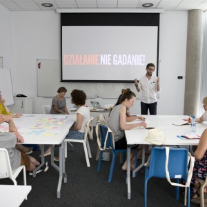 """Warsztaty """"Jak połączyć biznes z wartościami"""" odbyły się 5 lipca. Fot. Gdynia Design Days."""