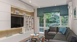 Świeże i energetyzujące - takie jest to mieszkanie. Królują w nim turkusy i miętowe kolory, acałość ubrana jest w nowoczesną stylistykę.