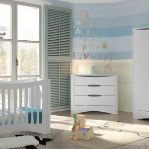 Pastelowe odcienie oraz biel to idealna propozycja dla niemowlaków. Zbyt duża ilość kolorów może drażnić maluszka w pierwszym okresie życia. Fot. Cuckooland.