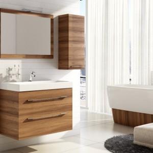 Kolekcja mebli łazinkowych Barcelona marki Elita Meble charakteryzuje się wysoką funkcjonalnością i jakością oraz eleganckim, minimalistycznym wzornictwem. Fot. Elita Meble.