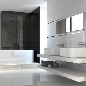 Płytki z kolekcji Allegra marki Roca nadadzą przestrzeni łazienki nowoczesny charakter. Fot. Roca.