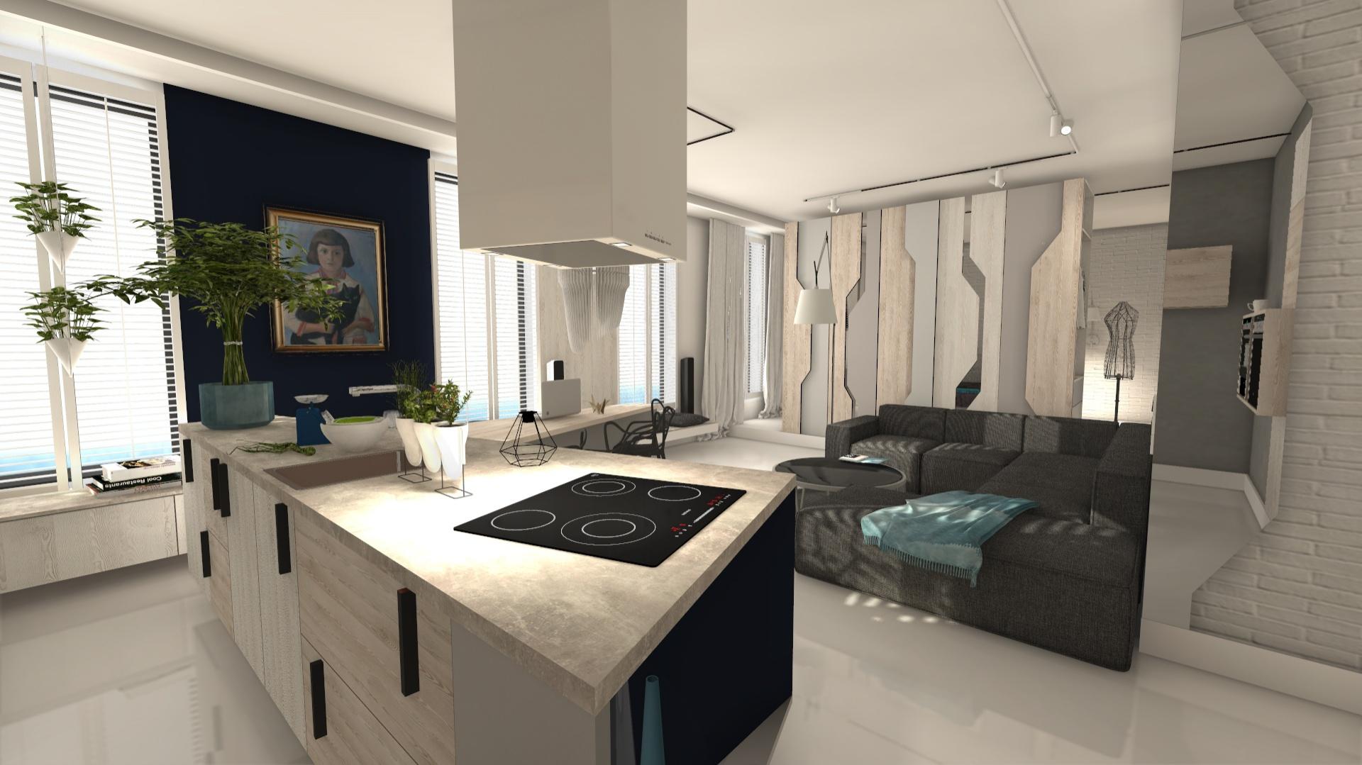 I miejsce, wygrana oraz 5000 zł i program CAD Decor PRO zostały przyznane projektantowi Tadeuszowi Tomaszewskiemu za projekt mieszkania o powierzchni 65 m2, inspirowany widokiem wybrzeża morskiego. Fot. Materiały prasowe