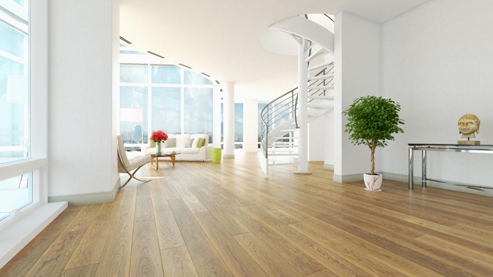 Ponad dwumetrowa, gotowa deska wykonana z najwyższej jakości drewna dębowego. Fot. Jawor-Parkiet