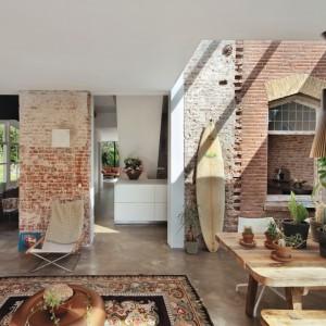 Wnętrze ma charakter otwarty chodź każda ze stref została tu wyraźnie wyodrębniona. Projekt: Jeroen van Zwetselaar. Fot. Cornbread Works.
