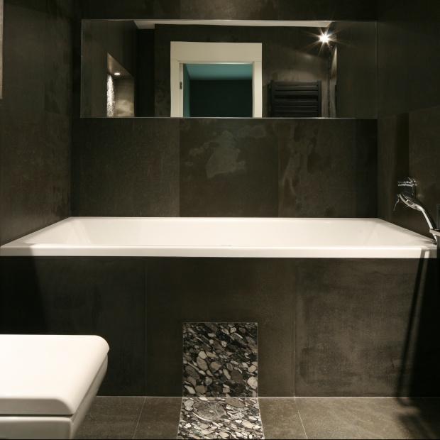 Mała łazienka w kamieniu – zobacz gotowy projekt