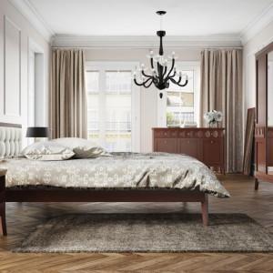 Proste, eleganckie bryły z geometrycznymi zdobieniami to cechy charakterystyczne kolekcji Silento marki Paged. Wyrafinowany wygląd sypialni zapewni natomiast pikowany zagłówek w kolorze ecru. Fot. Paged Meble.