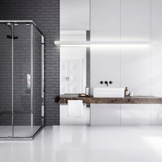 Nowoczesna łazienka. Modna strefa prysznica