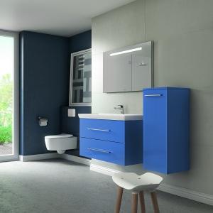 Kolekcja Avento marki Villeroy & Boch dostępna jest  w czterech kolorach: białym, szarym, czarnym i niebieskim. Fronty wykonano z akrylu. Nowość, Villeroy&Boch.