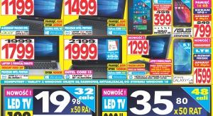 Zapoznaj się z aktualną gazetką z promocjami sieci sklepów RTV EURO AGD. Promocją objęto pralki, odkurzacze, żelazka, telewizory, laptopy, tablety oraz inne sprzęty.
