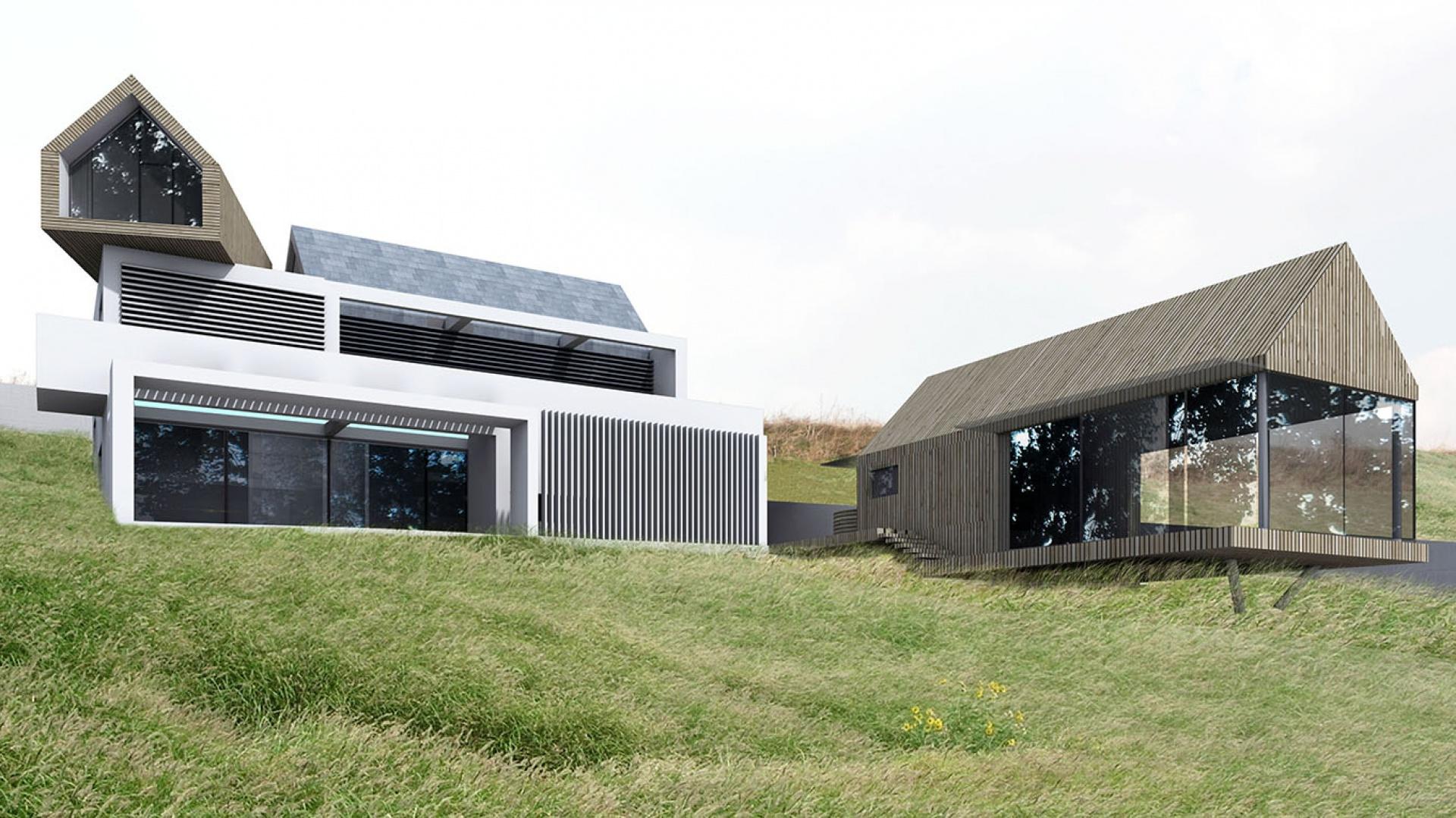 Projekt Dom Podwodny i Stodoła Ćwiczeń to nowoczesna odsłona architektury i pomysłowości studia projektowego BXB Studio Bogusław Barnaś. Dom łączy w sobie design i funkcjonalność. Fot. BXB Studio