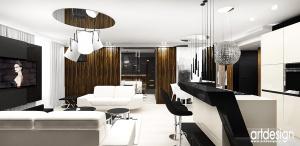 salon w nowoczesnym apartamencie