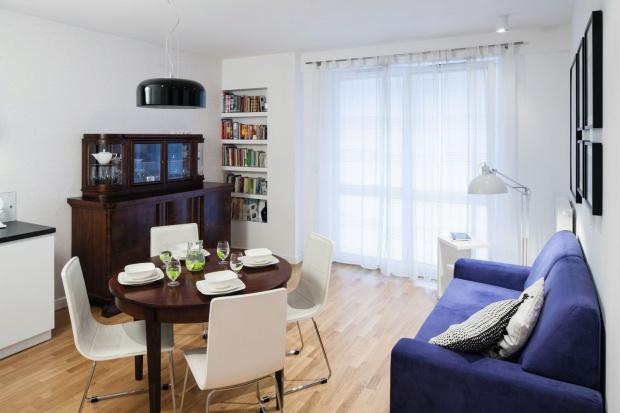 Małe 40-metrowe mieszkanie: wnętrze z duszą