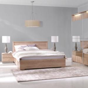 Sypialnia Nebraska w kolorze dąb Nebraska to dobry wybór, jeśli chcesz, aby sypialnia była przytulna i w naturalnym stylu. Fot. Stolwit Meble.
