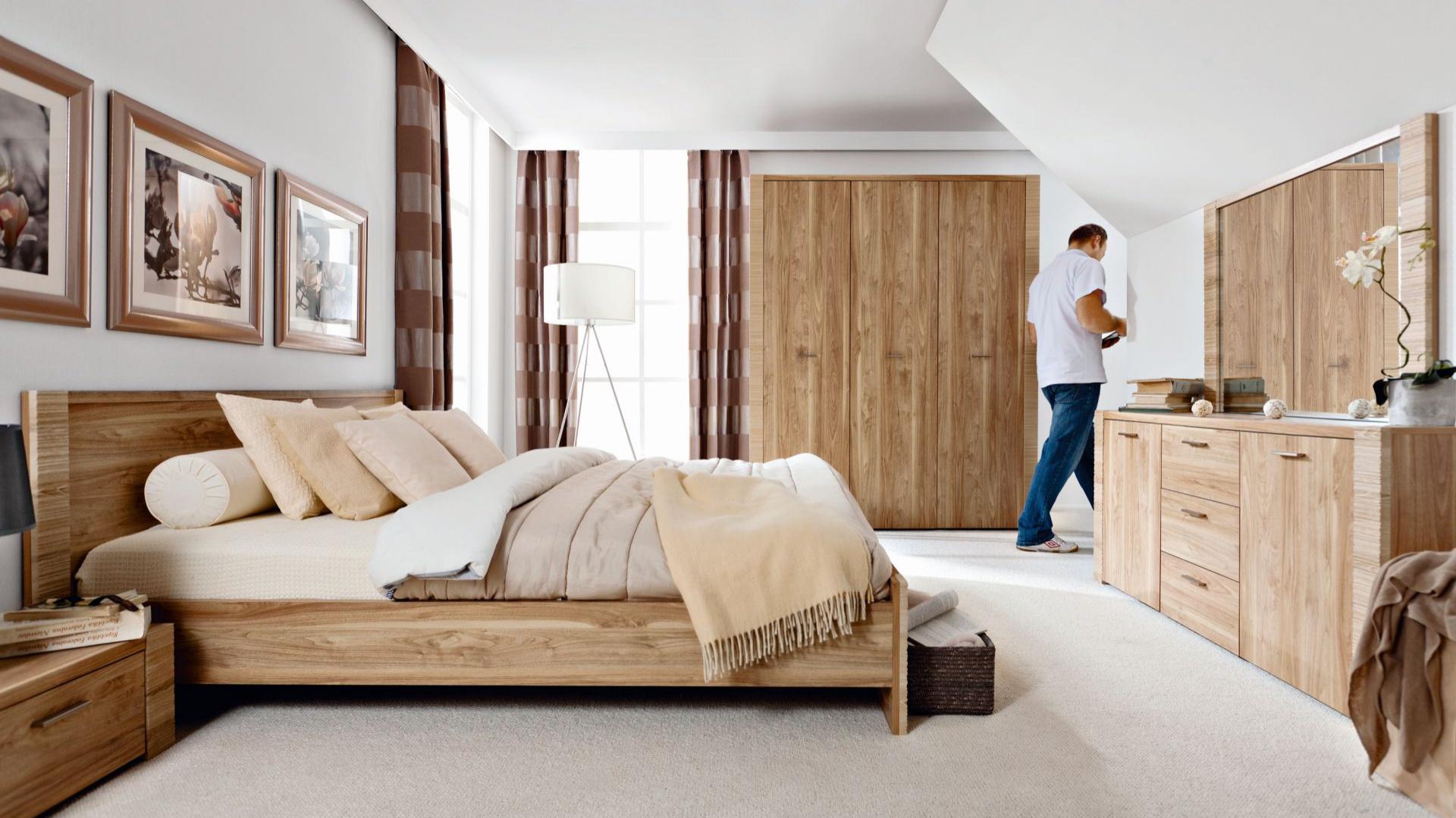 Niewiarygodnie Meble do sypialni z rysunkiem drewna. 15 nowości PF48