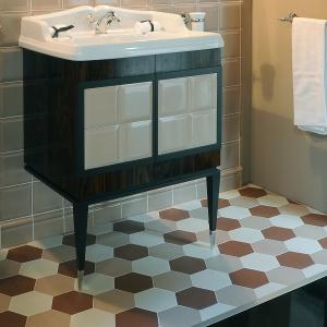 W stylu Art Deco – płytki sześciokąty Hex firmy Etruria Design. Fot. Etruria Design.