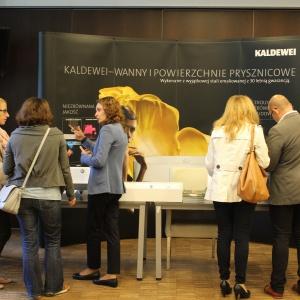 Stoisko firmy Kaldewei – tutaj można było obejrzeć m.in. najnowsze umywalki.