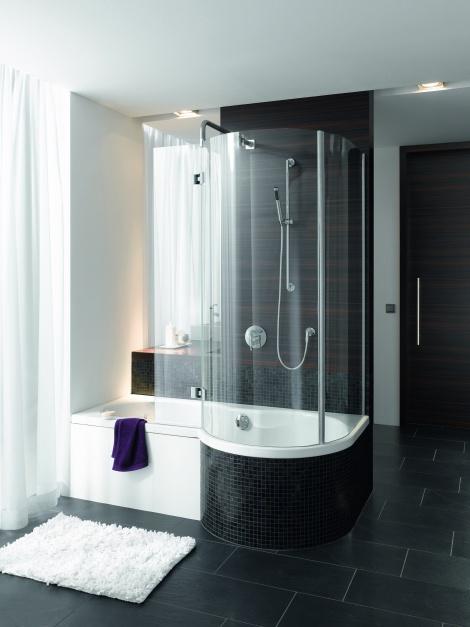 Z dużą, zaokrągloną...  Mała łazienka. Tak połączysz wannę z prysznicem  Strona: 9