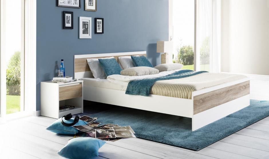 Kolekcja do sypialni...  Pomysł na sypialnię. Białe meble ocieplone drewnem  Strona: 5