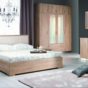 Nebrasca to sypialnia, która wyróżnia się geometryczną, nowoczesną formą. Fot. Stolwit.