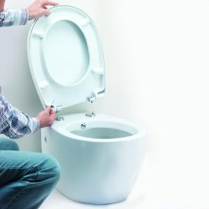 Sedes z funkcją bidetu Jomo Taharat Hygenic Werit ma w komplecie stelaż, akcesoria do montażu oraz deskę sedesową z cichym zamykaniem i regulowaną dyszą myjącą. Fot. Werit.