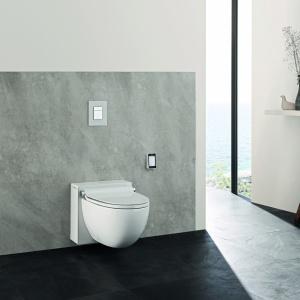 Toaleta z funkcją bidetu Sensia Grohe ma wiele programów mycia do wyboru, m.in. do higieny intymnej kobiet. Z indywidualnym programowaniem i suszeniem. Fot. Grohe.