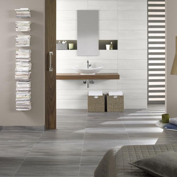 Szare płytki do łazienki - 15 modnych kolekcji