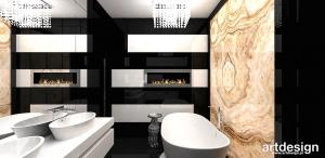 luksusowa łazienka z kominkiem