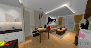 Nowoczesne mieszkanie z kocim akcentem