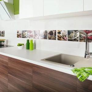 Wielobarwne inserty z kolekcji Briosa/Purio przedstawiają kulinarne motywy: pachnące zioła i aromatyczne przyprawy. Idealnie sprawdzą się w przestrzeni kuchni. Fot. Ceramika Paradyż.