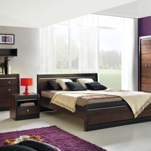 Sypialnia Forest to nowoczesna forma połączona z klasyczną kolorystyką. Fot. BogFran.