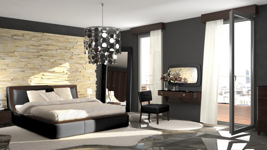 Nowoczesna sypialnia Bosa...  Ciemne meble. Sposób na elegancką sypialnię  Strona: 7