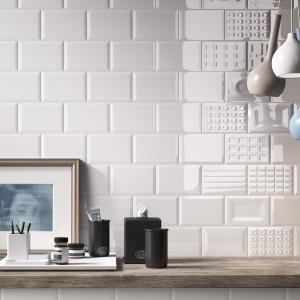 Można je układać w patchworkowe wzory - płytki ceramiczne jak cegły Cento firmy Imola Ceramica. Fot. Imola Ceramica.